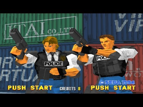 Virtua Cop Classic Arcade Light Gun Game (Sega Model 2)