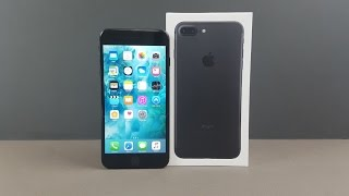 Apple iPhone 7 Plus Black Unboxing & Firstlook