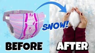 DIY Instant Snow Out of Diapers + 11 WEIRD Holiday Hack Projects! NataliesOutlet