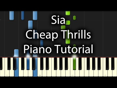 Sia - Cheap Thrills Tutorial (How To Play On Piano) Sean Paul
