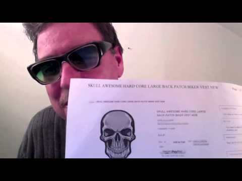 Heygidday.Biz - The Best Biker Patches Wallets Bandanas & More! Skull Back Patch