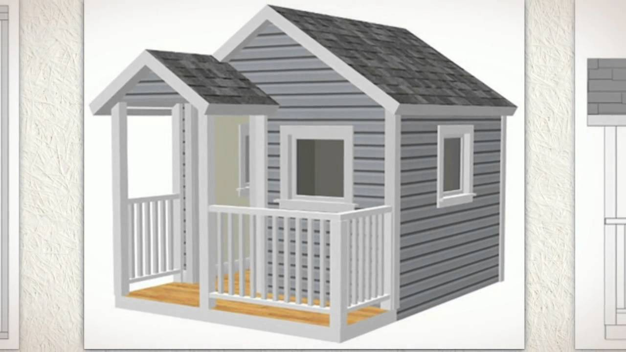 8 39 x 8 39 playhouse how to build children 39 s 8 39 x 8 for How to build an a frame home