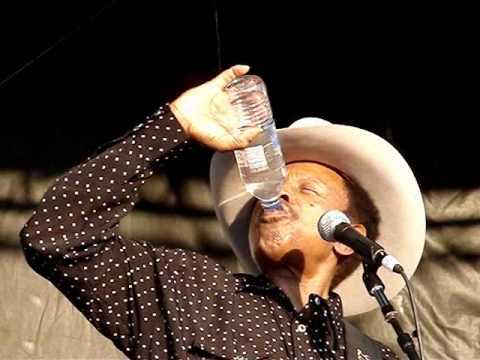 Lonnie Brooks having a little ~Vodka~.
