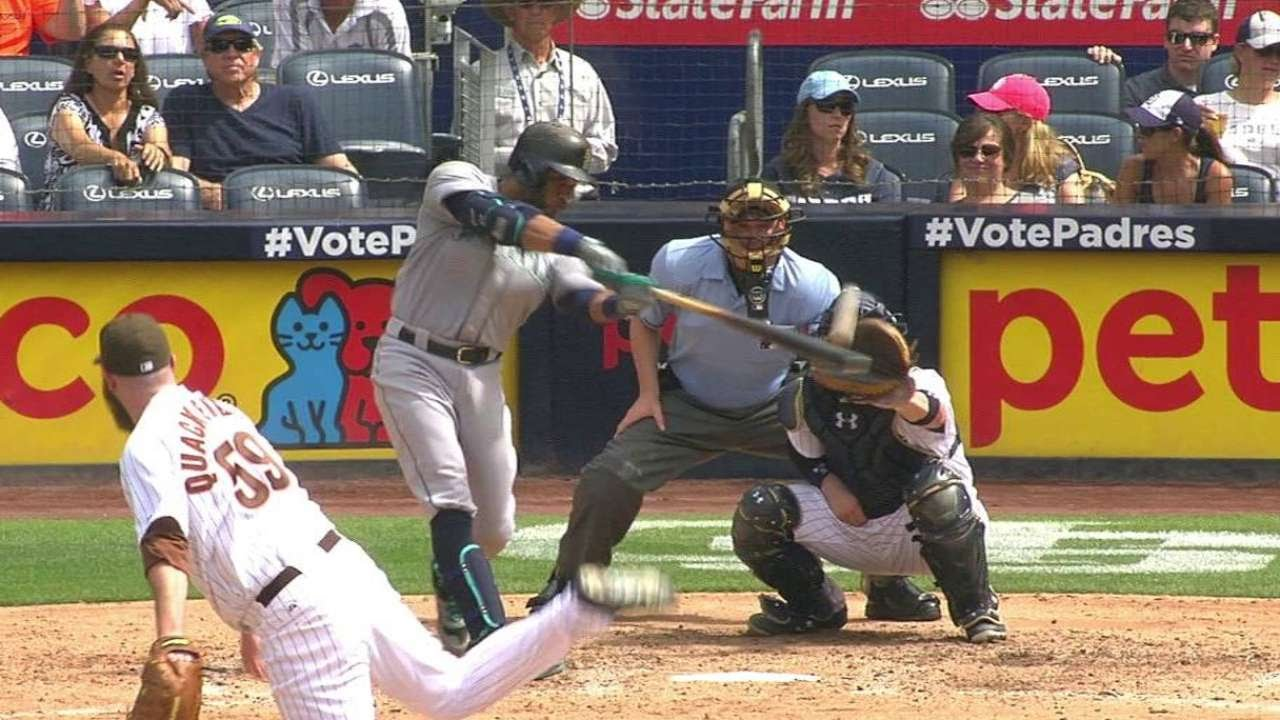 SEA@SD: Cano hits RBI double to record his fourth hit