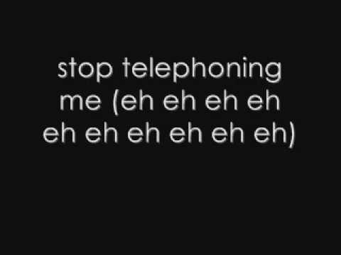 Telephone-lady Gaga Ft Beyonce, Lyrics video