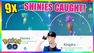NEW SHINY HORSEA RELEASE! 9x SHINIES CAUGHT in Pokemon Go!