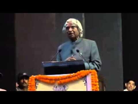 Apj Abdul Kalam Inspirational Speech For Students video