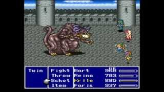 Final Fantasy 5 (PSX) All Bosses Battles