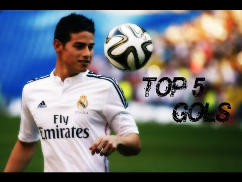James Rodriguez - Top 5 Goals in the Real Madrid.