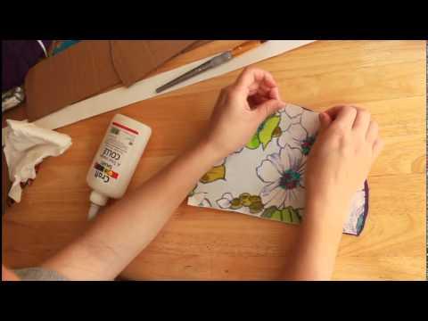 Como hacer una caja de carton forrada con tela youtube - Decorar pared con tela ...