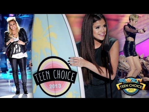 Selena Gomez, Miley Cyrus, Demi Lovato - Teen Choice Awards 2013 Winners!