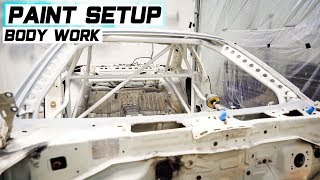 DIY Garage Paint Booth Setup! PAINTING MY DRIFT CAR PT1