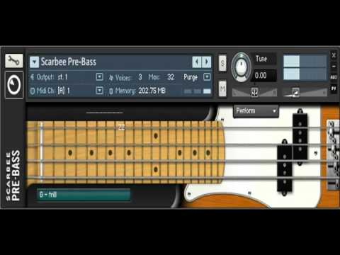 Native Instruments - Scarbee Pre Bass - Audio Demo Screen Capture