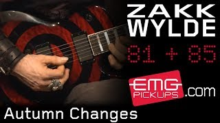 "Zakk Wylde - EMG pickupsが""Autumn Changes""のスタジオ・ライブ映像を公開 新譜「Book of Shadows II」収録曲 thm Music info Clip"
