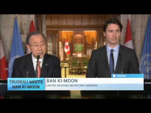 Trudeau Meets Ban Ki-Moon: United Nations chief welcomes Canada's 'recommitment' to UN