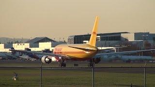 DHL (ABX Air) N775AX 767-200F Takeoff Portland Airport (PDX)