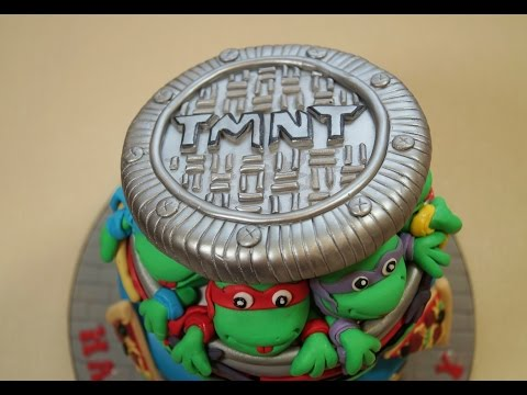 Teenage Mutant Ninja Turtles Sewer Lid For A Cake How To - Max's Cake Studio