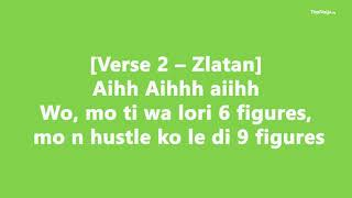 Zlatan ft  Tiwa Savage Shotan - OFFICIAL LYRICS VIDEO