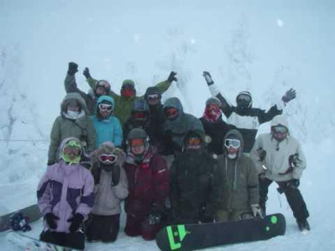 スノーボード 081231@山形蔵王温泉スキー場 ~樹氷コース決死の下山~