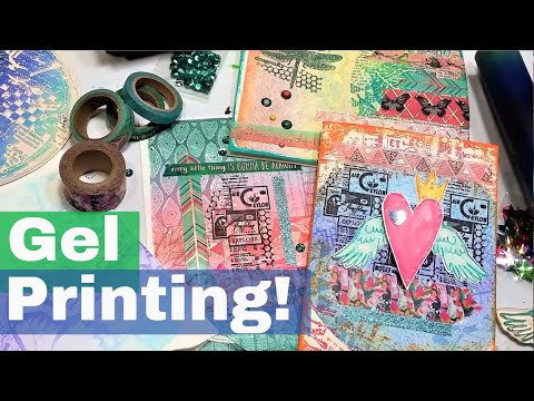 How to use Texture Plates in Gelatin Printmaking //Gel Press Tutorial