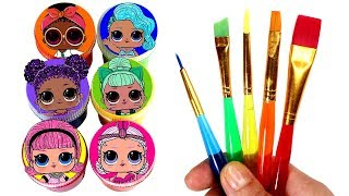 LOL Surprise Drawing & Painting LOL Dolls Opening LOL Series 3 Lil Sisters Toy Surprises