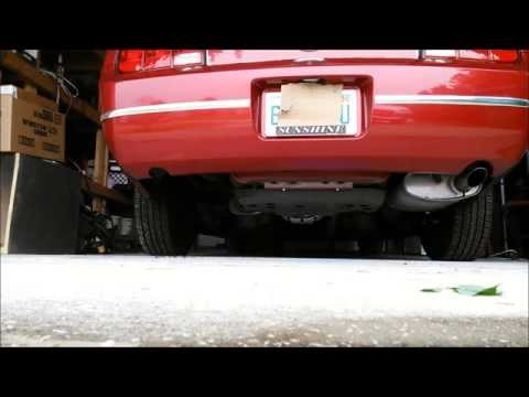 2006 mustang 4.0 v6 true dual magnaflow exhaust before and after
