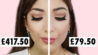 CHEAP DUPES FOR HIGH END MAKEUP! Luxury Vs Drugstore Full Face Comparison