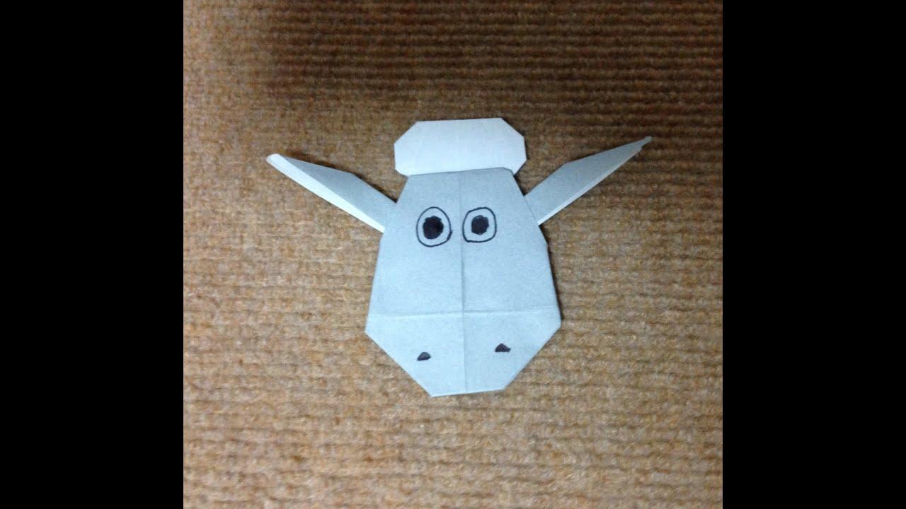 すべての折り紙 羊の折り紙 : 折り紙 ひつじのショーン 折り ...