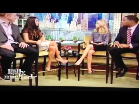 Bachelor Sean Lowe and Catherine Giudici on Live with Kelly