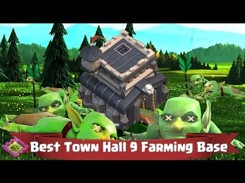 Clash of Clans Town Hall 9 Layout Tips - Farming!