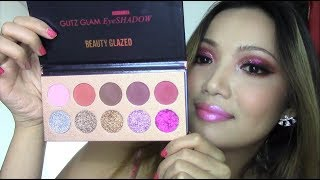 NEW YEARS EVE MAKEUP LOOK | Beauty Glazed Matte + Glitter Palette Review!