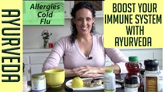 Boost Your Immune System with Ayurveda: Herbs, Food, Supplements for Colds, Flu, Allergies