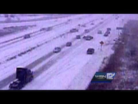 RAW: Video captures Hwy 41/45 pileup