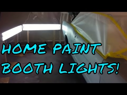 Home Paint Booth Lighting System - Twin Turbo 65 Mustang - Turbo Cobra