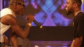 Sarkodie & Shatta Wale fight over girl @ TiGO Ghana Meets Naija 2015