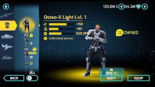 New titanium backup Osteo suit lvl 3