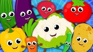Ten Little Vegetables | Vegetables Song For Kids | Nursery Rhymes and Baby Songs