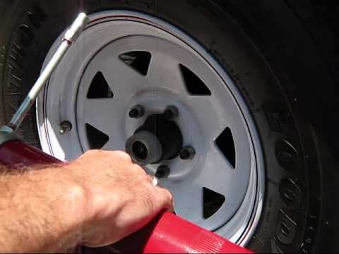 How to Grease Casita Travel Trailer Wheel Bearings with EZ-Lube Hubs
