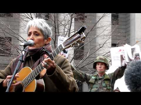 Joan Baez performing