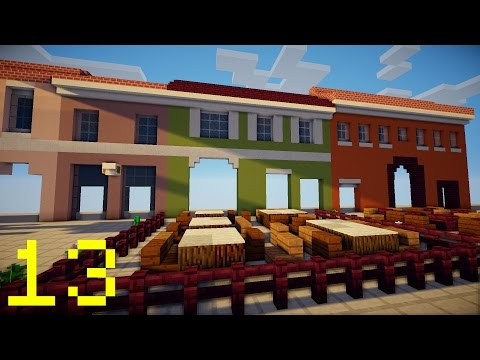 Minecraft : Building a REAL City - Restaurants - 13
