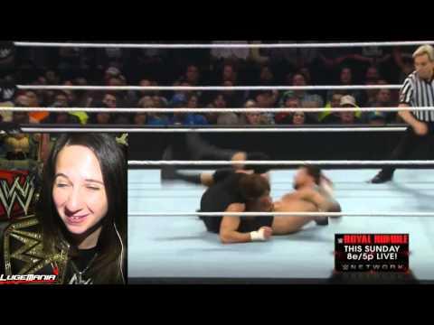 WWE Raw 1/19/15 Dean Ambrose vs Bad News Barrett Live Commentary