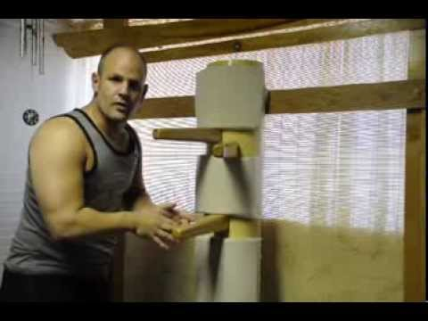 Anatomy & Efficiency of Jeet Kune Do on a Wooden Dummy training drill demo Image 1