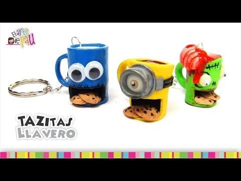 Cool coffee mugs keychains(Polymer Clay) / Padrísimos llaveros en forma de taza(Arcilla Polimérica)