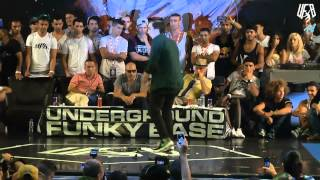 underground funky base vol 8 world final 1 vs 1 b-boy quarter-final (mato vs lil fox )
