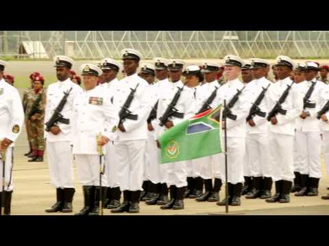 President Jacob Zuma attends South African National Defence Force Day