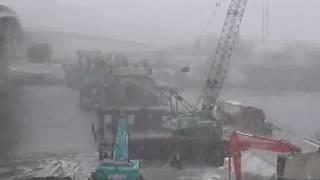 旧梁川橋撤去工事 NO6