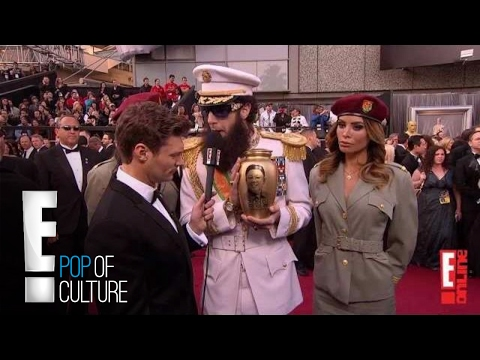 Sacha Baron Cohen Spills Ashes On Ryan Seacrest - 2012 Oscars video
