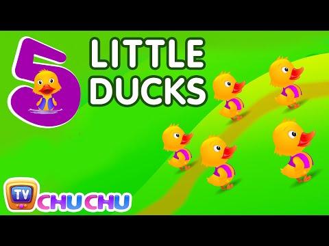 Five Little Ducks Nursery Rhyme With Lyrics - Cartoon Animation Rhymes & Songs for Children