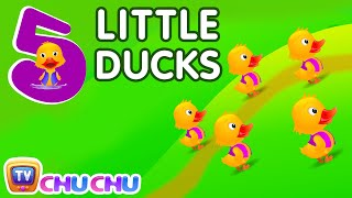 Five Little Ducks Nursery Rhyme With Lyrics - Cartoon Animation Rhymes & Songs for Children