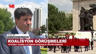 ALTAN TAN YEMİN TÖRENİ ÖNCESİ BUGÜN TV'YE KONUŞTU